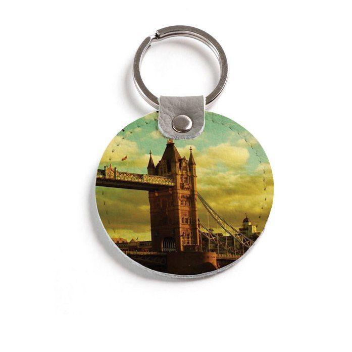 """Кожаный брелок """"Tower Bridge"""""""