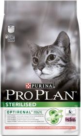 PRO PLAN STERILISED сухой 3 кг для кошек кастрированных и стерилизованных Лосось с Рисом