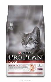 PRO PLAN ADULT сухой 3 кг для кошек Лосось c Рисом