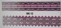 3D-наклейки на клеевой основе для дизайна ногтей, NK-12