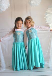 Платье Эльза Холодное сердце п01 130 (на 120)