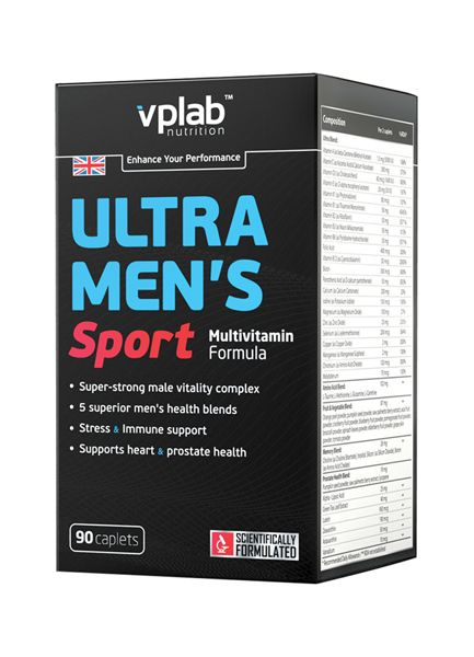 VPLAB Ultra Men's Sport Multivitamin Formula 90 капс. скл 2 1-2дня