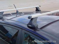 Багажник на крышу Datsun On-Do, Атлант, прямоугольные дуги, опора Е