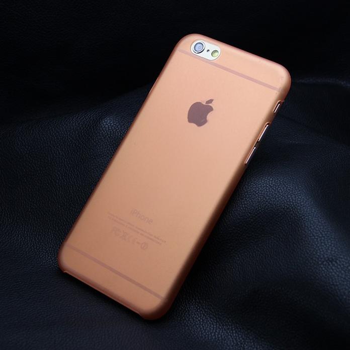 Ультратонкий чехол для iphone 6 (5.5) оранжевый