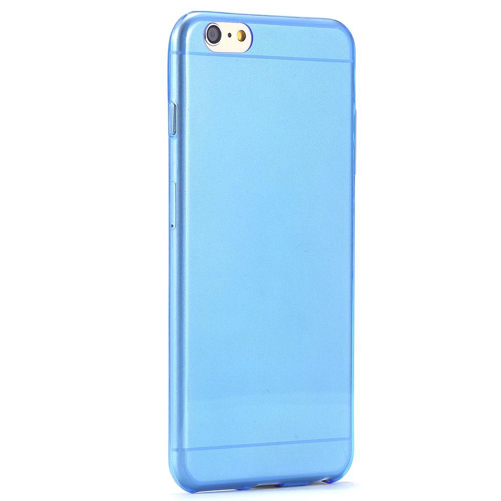 Силиконовый чехол для iphone 6 5.5 (синий)