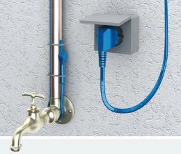 Кабель нагревательный двухжильный Hemstedt FS  100вт 10м для обогрева водопроводных и канализационных трубопроводов от замерзания