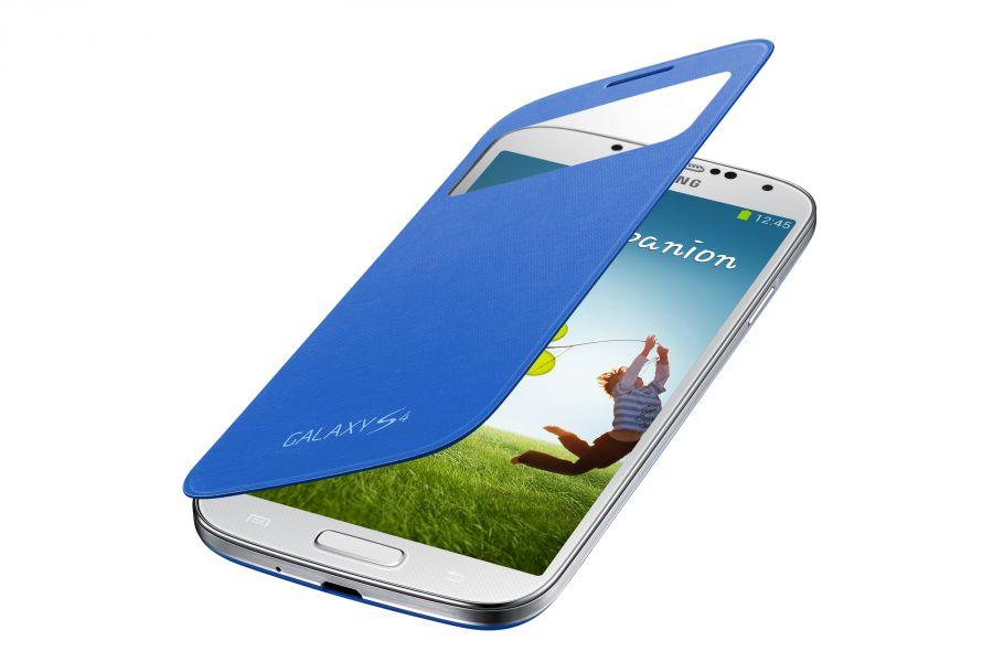 Чехол Samsung SView Cover для Samsung GT- I9500 Galaxy S4 - Blue