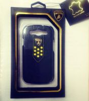 Накладка Lamborghini Superleggera D2 для Samsung GT-9300 Galaxy S III- Black-yellow
