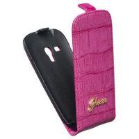 Чехол GUESS Flipp Case  для Samsung GT-I8190 Galaxy S III mini - Croco Pink
