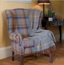 плед шотландский двусторонний, 100 % стопроцентная шотландская овечья шерсть, расцветка Лорд Ловат, плотность 10