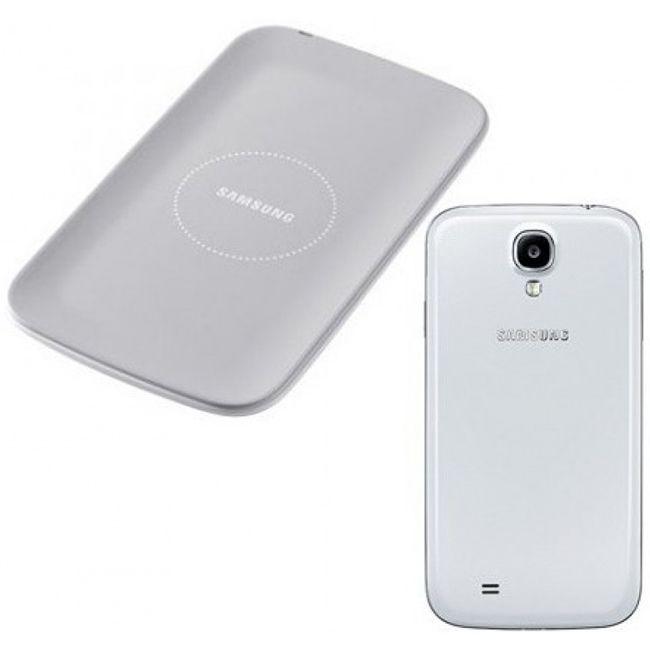 КомплектБеспроводная зарядка+Задняя Крышка S4/I9500 White (Wireless Charging Kit EP-WI950EWRGRU)