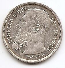 2 франка Бельгия 1909