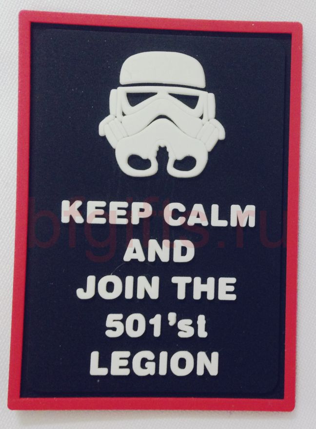 "Моральный патч ПВХ ""Keep calm and join the 501'st legion"""