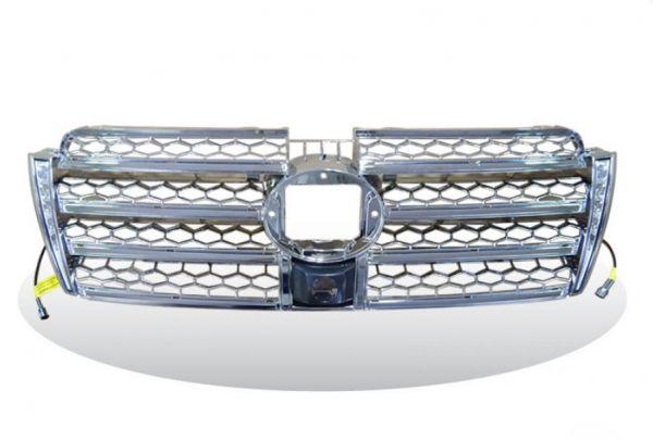 Решетка радиатора Toyota Prado 150 со встроенными дневными ходовыми огнями Chrome