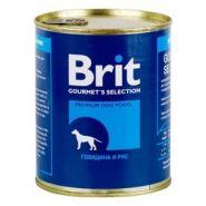 Brit Beef & Rice - Говядина и рис, консервы для собак (850 г)