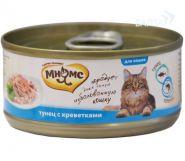Мнямс Консервы для кошек Тунец с креветками в нежном желе (70 г)