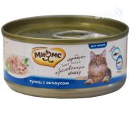 Мнямс Консервы для кошек Тунец с анчоусами в нежном желе (70 г)