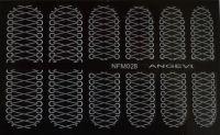 """Наклейки для ногтей """"Белые"""" NFM 028"""