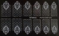 """Наклейки для ногтей """"Белые"""" NFM 032"""