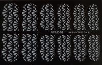 """Наклейки для ногтей """"Белые"""" NFM 046"""
