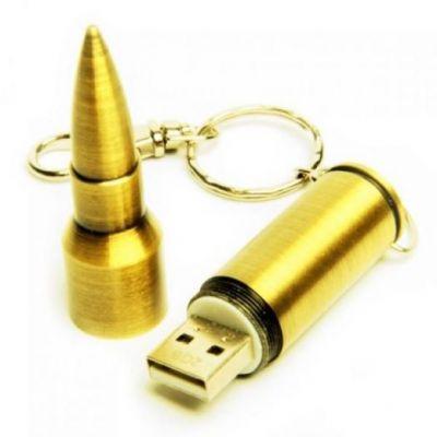 16GB USB-флэш накопитель Apexto UM-505A Пуля caliber 7.62, золотая
