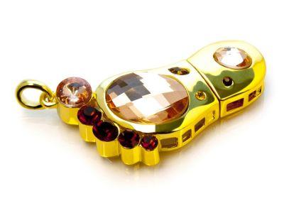 16GB USB-флэш накопитель Apexto UJ6277  Ступня в кристалах