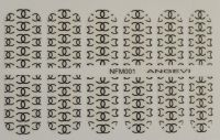 """Наклейки для ногтей """"Черные"""" NFM 001"""