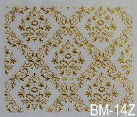 """Наклейка для дизайна ногтей на клеевой основе """"Золото"""" BM - 14Z"""