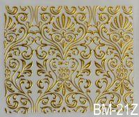 """Наклейка для дизайна ногтей на клеевой основе """"Золото"""" BM - 21Z"""
