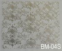 """Наклейка для дизайна ногтей на клеевой основе """"Серебро"""" BM-04S"""