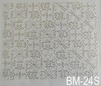 """Наклейка для дизайна ногтей на клеевой основе """"Серебро"""" BM - 24S"""