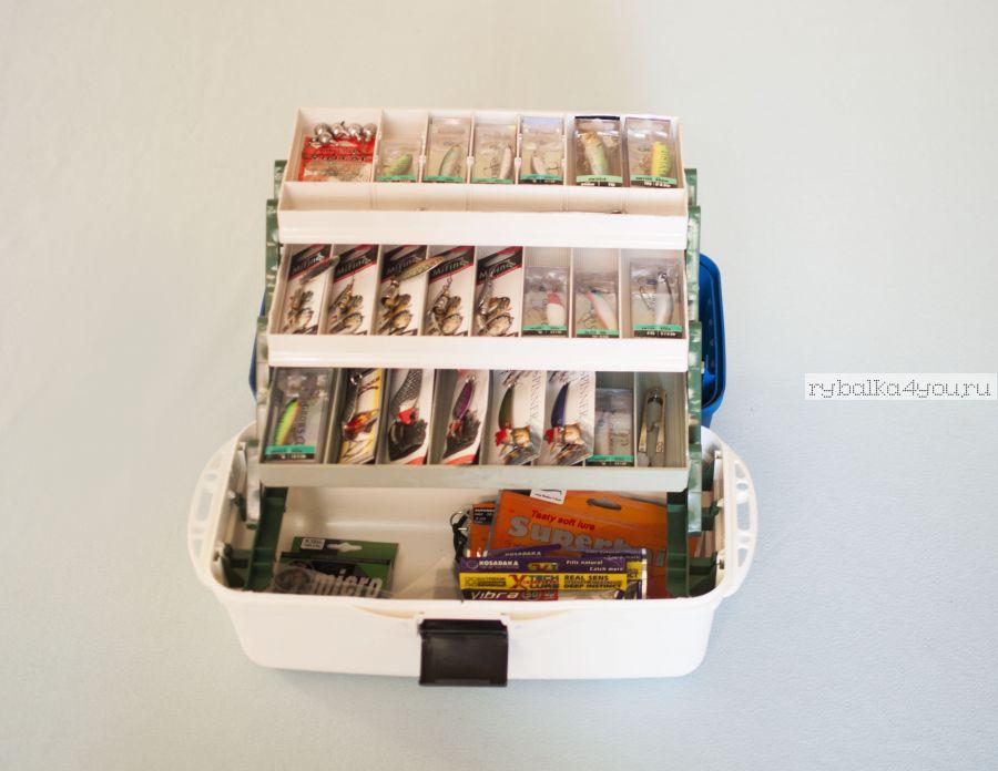 Ящик Спиннинговый с наполнением  Начинающий ( Набор приманок для спиннинга в ящике)