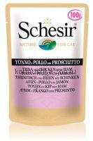 Schesir консервы для кошек Тунец/курица/ветчина