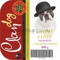 CLAN консервы д/собак говядина/печень паштет