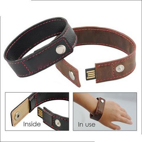 16GB USB-флэш накопитель Apexto U503O коричневый кожаный браслет