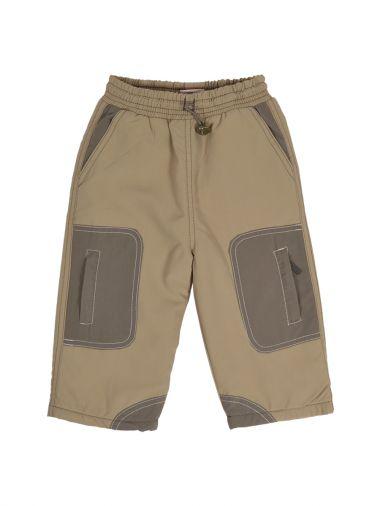 Теплые бежевые брюки с подкладкой на флисе