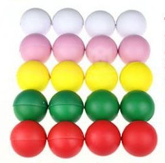 Умножающиеся шары 50 мм -  Multiplying Billiard Balls (Soft Rubber)