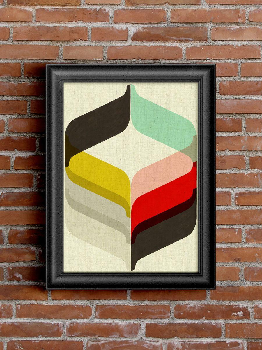 Ретро- постер Flora Graphic Art Print