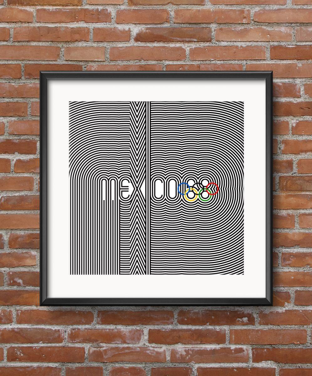 Ретро-постер Mexico 68