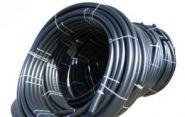 Труба гладкая ПВД в рулонах черная D40