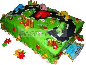 Домашний торт «Автомобильная дорога»   Сладкие подарки детям