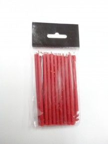 Свеча восковая натуральная красная, 10 см, (уп. 20 шт.)