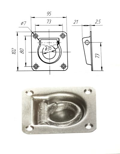 Кольцо крепления груза 2 т (Арт: 60710)