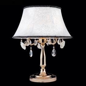 Настольная лампа 3145/3T хром/проз. хрус. Strotskis