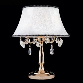 Настольная лампа 3145/3T зол/проз. хрус. Strotskis