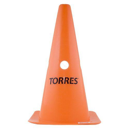 Конус тренировочный TORRES 30 см с отверстием для штанги