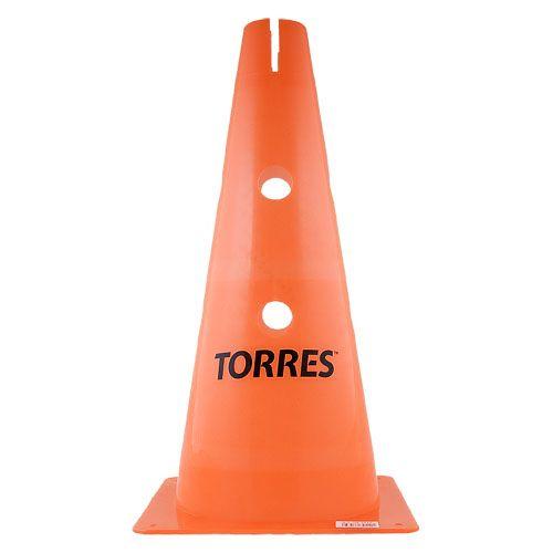 Конус тренировочный TORRES 38 см с отверстием для штанги