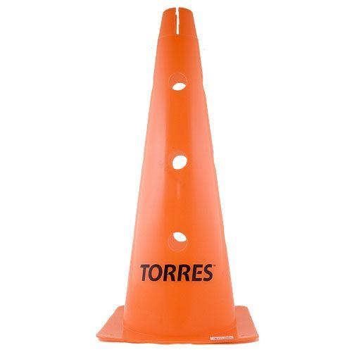 Конус тренировочный TORRES 46 см. с отверстием для штанги
