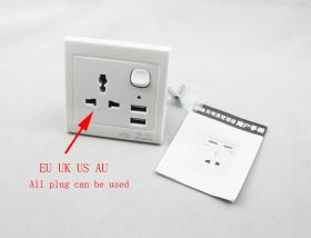 Универсальная розетка USB EU UK US AU