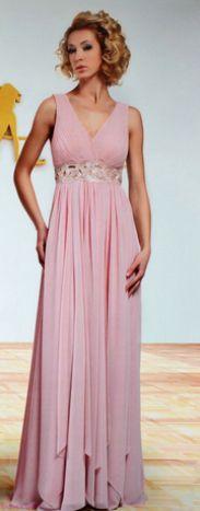 Шифоновое платье в греческом стиле с многослойной юбкой